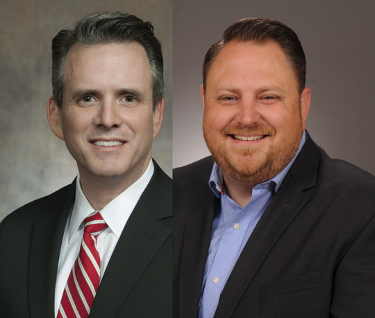Republican David Steffen, left, and Democrat Terry Lee, candidates for the 4th Assembly District
