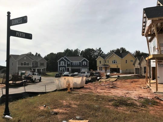 More than 100 homes are planned in a subdivision less than a mile from the historic family farm of the Hughes family outside Fountain Inn. The city says it needs to build a sewer line through the farm to serve this and other growing residential areas.