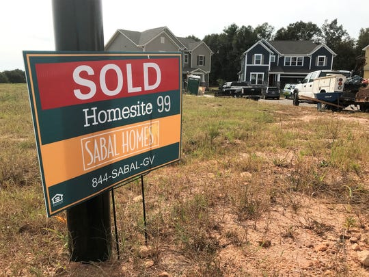 More than 100 homes are planned in this subdivision, Jones Mill Crossing, outside Fountain Inn.