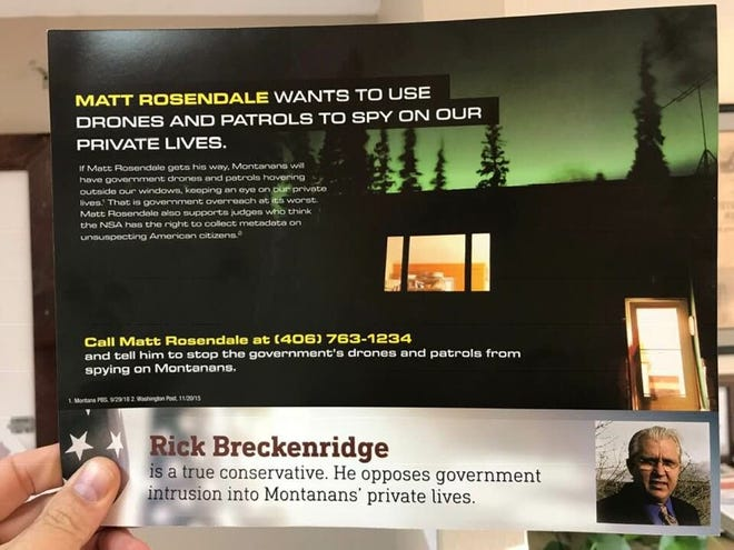 This anonymous mailer angered Libertarian candidate Rick Breckenridge.