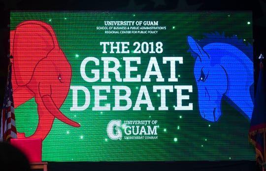 The 2018 Great Debate, hosted by the University of Guam's School of Business & Administration's Regional Center of Public Policy, featured the gubernatorial Democratic team of Lou Leon Guerrero and Josh Tenorio and the Republican team of Ray Tenorio and Tony Ada at the University of Guam Calvo Field House in Mangilao on Tuesday, Oct. 30, 2018.