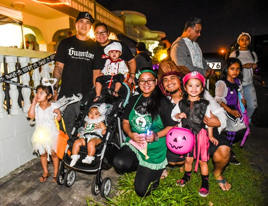 The Felix and Caganilla families joined forces in Barrigada Heights on Halloween night 2018.