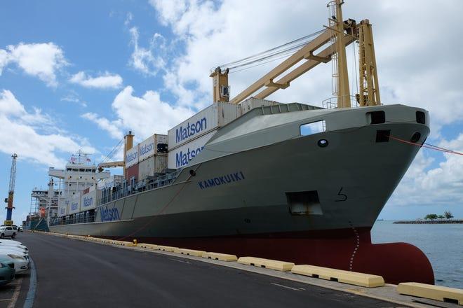 Matson's new vessel operating from Hawaii to the Marshall Islands Kamokuiki.
