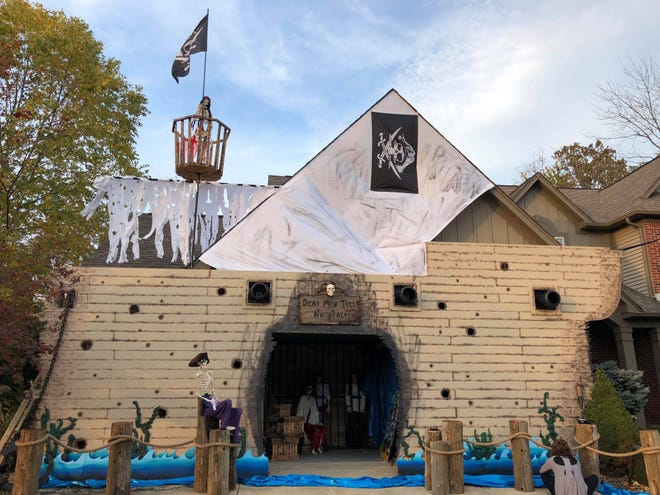 Dan Dugan and his team at Dugan Air have transformed his Bargersville home into a full pirate ship for Halloween