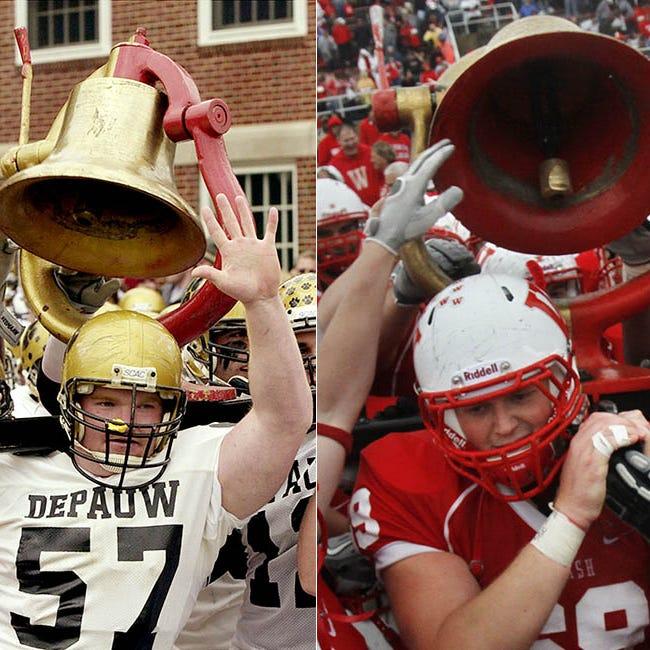 Small schools, big rivalry: 125th Monon Bell game between Wabash and DePauw | Engelhardt