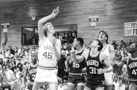 NBA teams started taking notice of Rik Smits as he finished his basketball career at Marist College in New York.