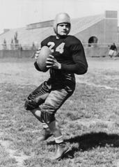 Nile Kinnick of Iowa won the Heisman Trophy in 1939.  Register file photo