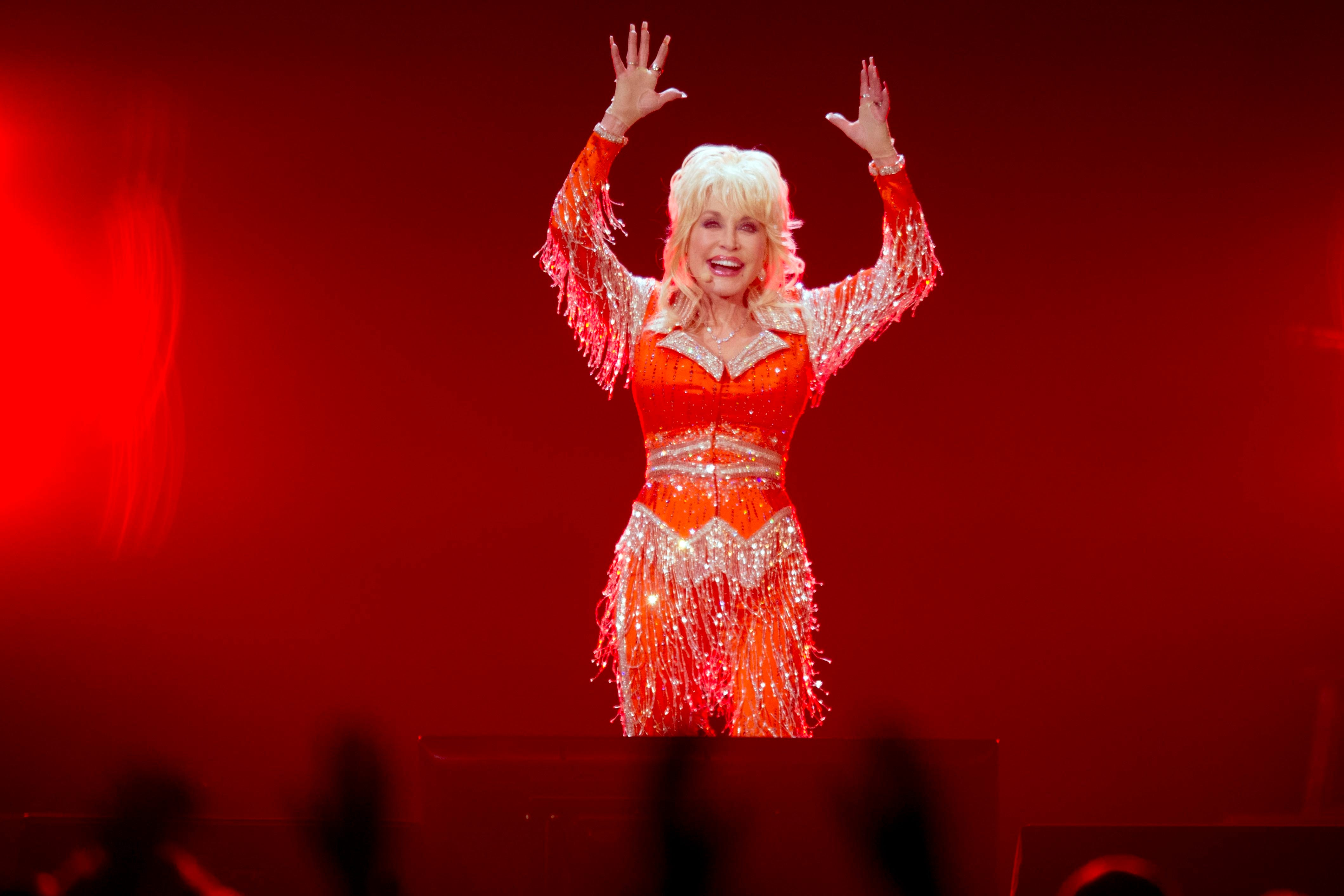 Dolly Parton performs a benefit show for her Imagination Library and the Robert F. Thomas Foundation at Thompson-Boling Arena in Knoxville, Tenn., on May 28, 2014.