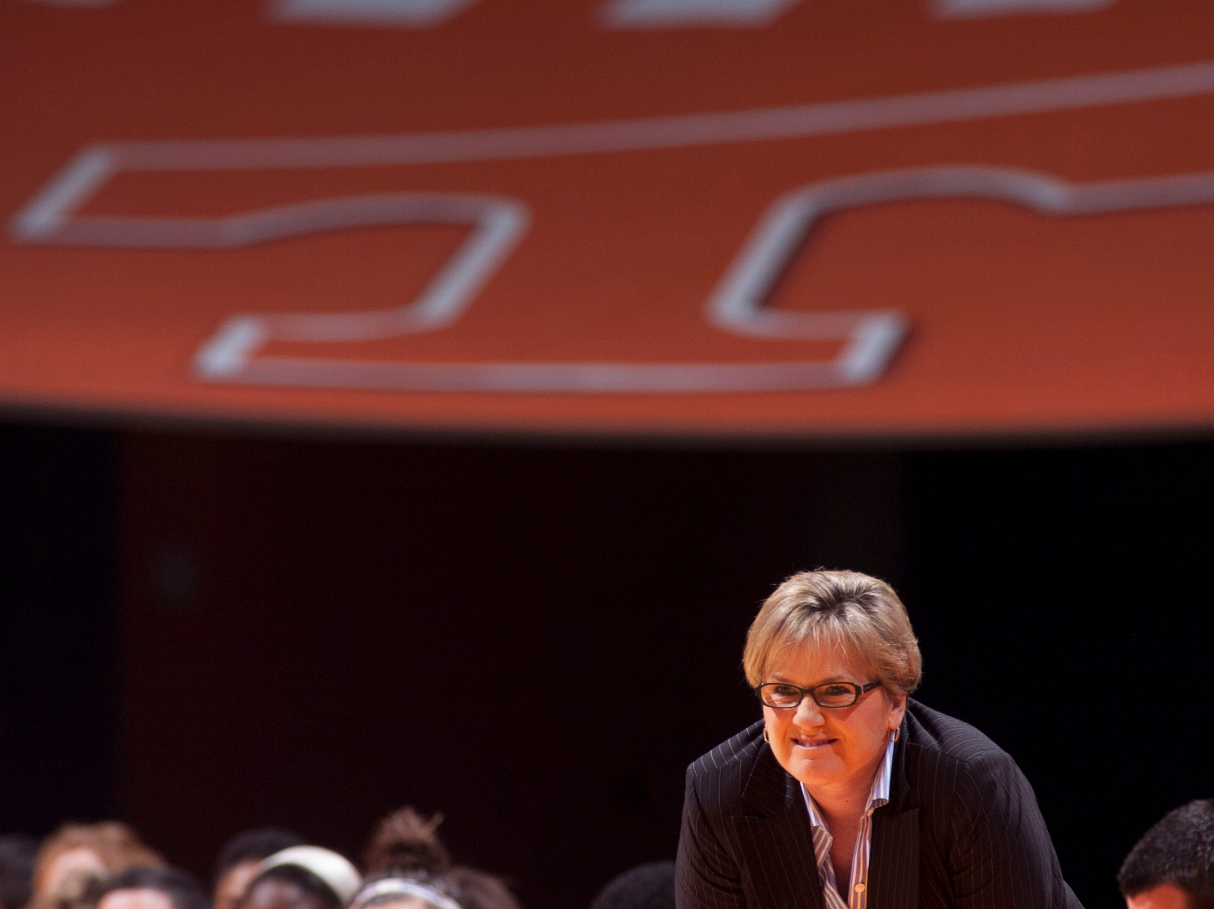 Tennessee head coach Holly Warlick watches her team go up against Rice at Thompson-Boling Arena on Thursday, November 15, 2012. Tennessee defeated Rice 101-48.