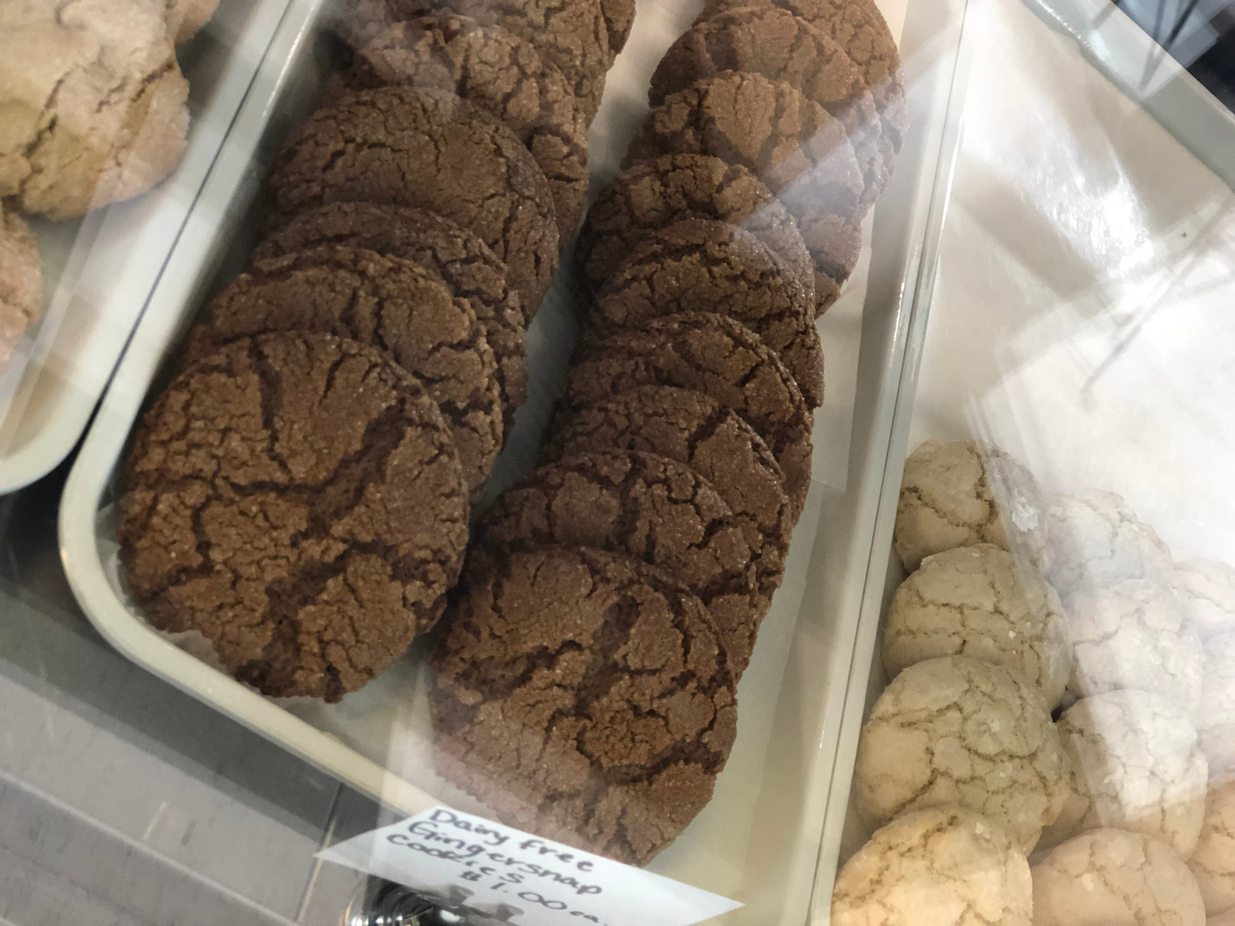 Dairy free gingersnaps are one of Lynnette Casazza's favorites from the bakery.