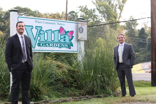 Modern Woodmen Fraternal Financial representative, Charlie Pratt, and district agent, Nate Caldwell, knew that the Villa Gardens community needed a new sign, so they stepped up to take care of it.