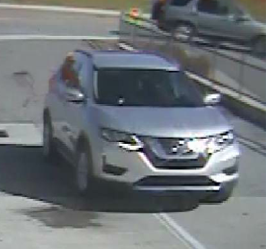 The suspect was driving what police believe to be a newer model silver Nissan Rogue that is possibly damaged on the rear of the driver's side.