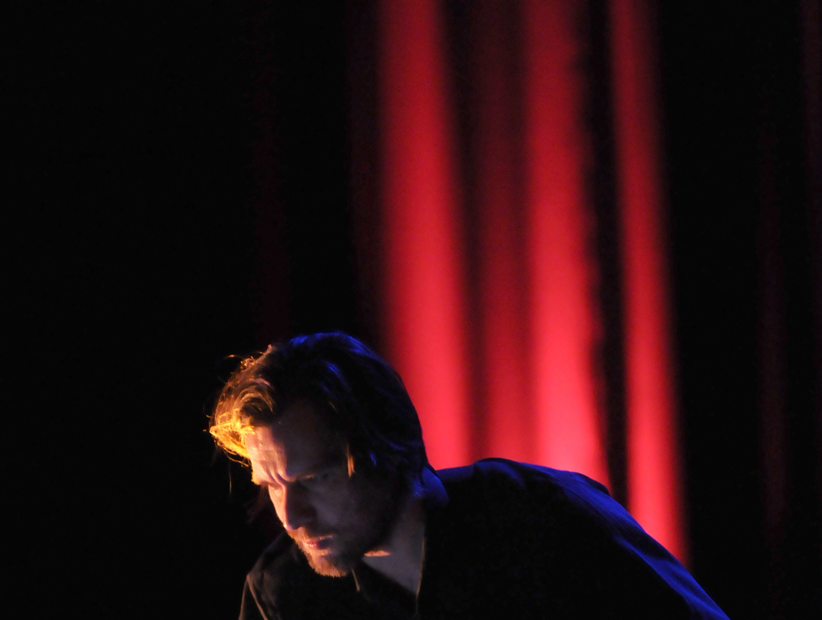 Austrian-based musician Christian Fennesz (CQ) performs with computer and guitar during the Big Ears festival on Friday, Feb. 6, 2009 at the Bijou Theatre. His critically-acclaimed album Black Sea is a showcase of dark experimental electronic music.
