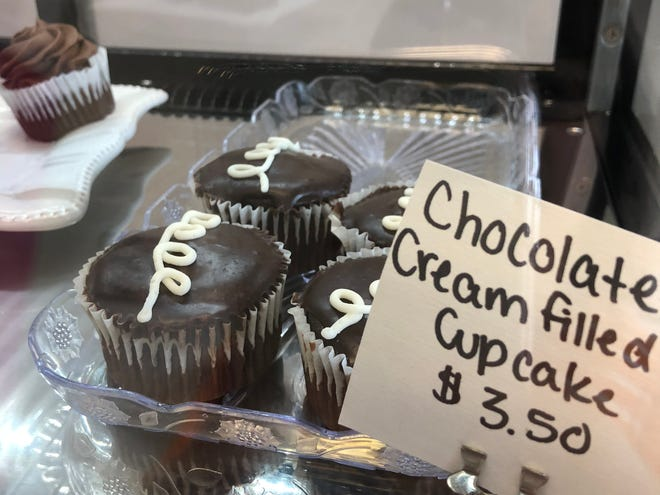 Chocolate cream filled cupcakes are a delicious treat and gluten free!