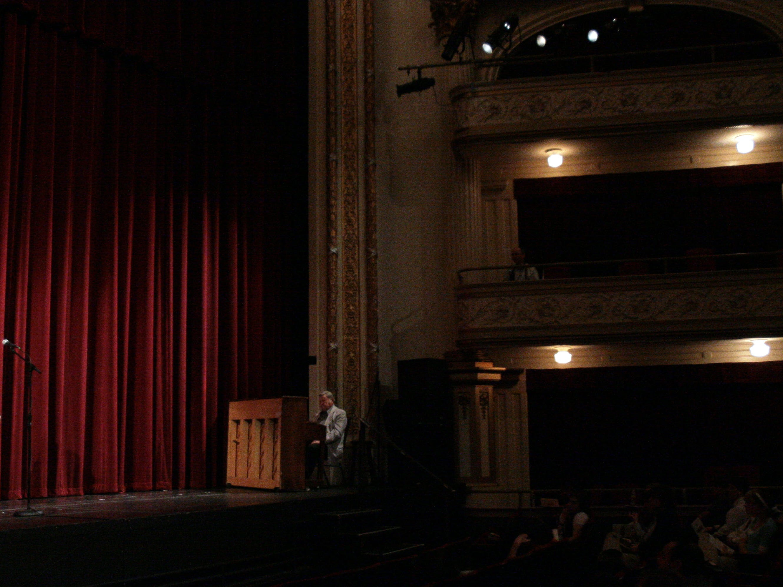 """Caitlin Montgomery, 17, of Cedar Springs Home School reads """"Next Day"""" by Randall Jarrell during the 4th annual Poetry Out Loud National Recitation Contest on Saturday, March 7, 2009 at the Bijou Theatre."""