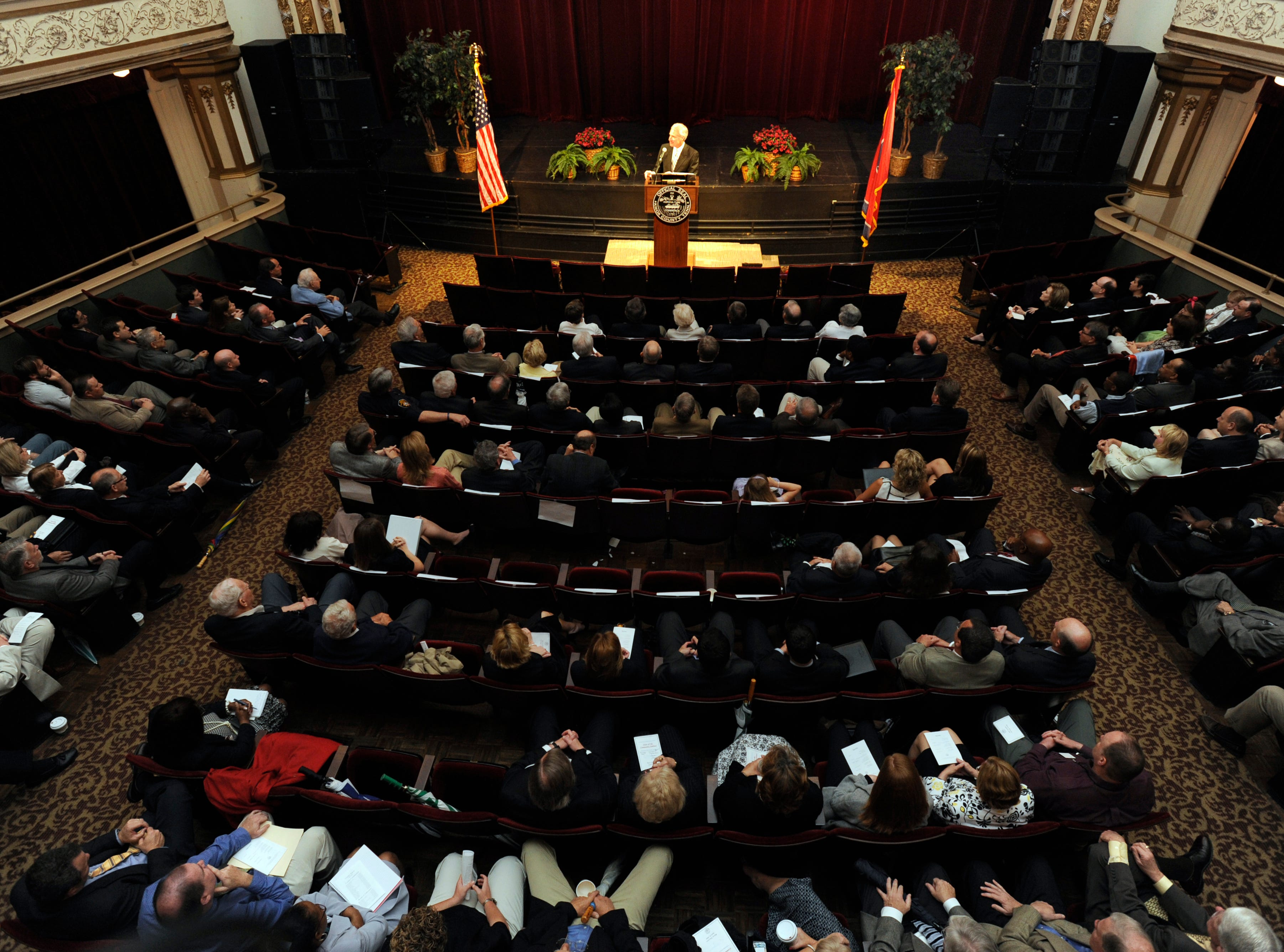 Knox County Mayor Mike Ragsdale presented his budget and his state-of-the-community speech Tuesday, Apr. 27, 2010 at the Bijou Theatre.