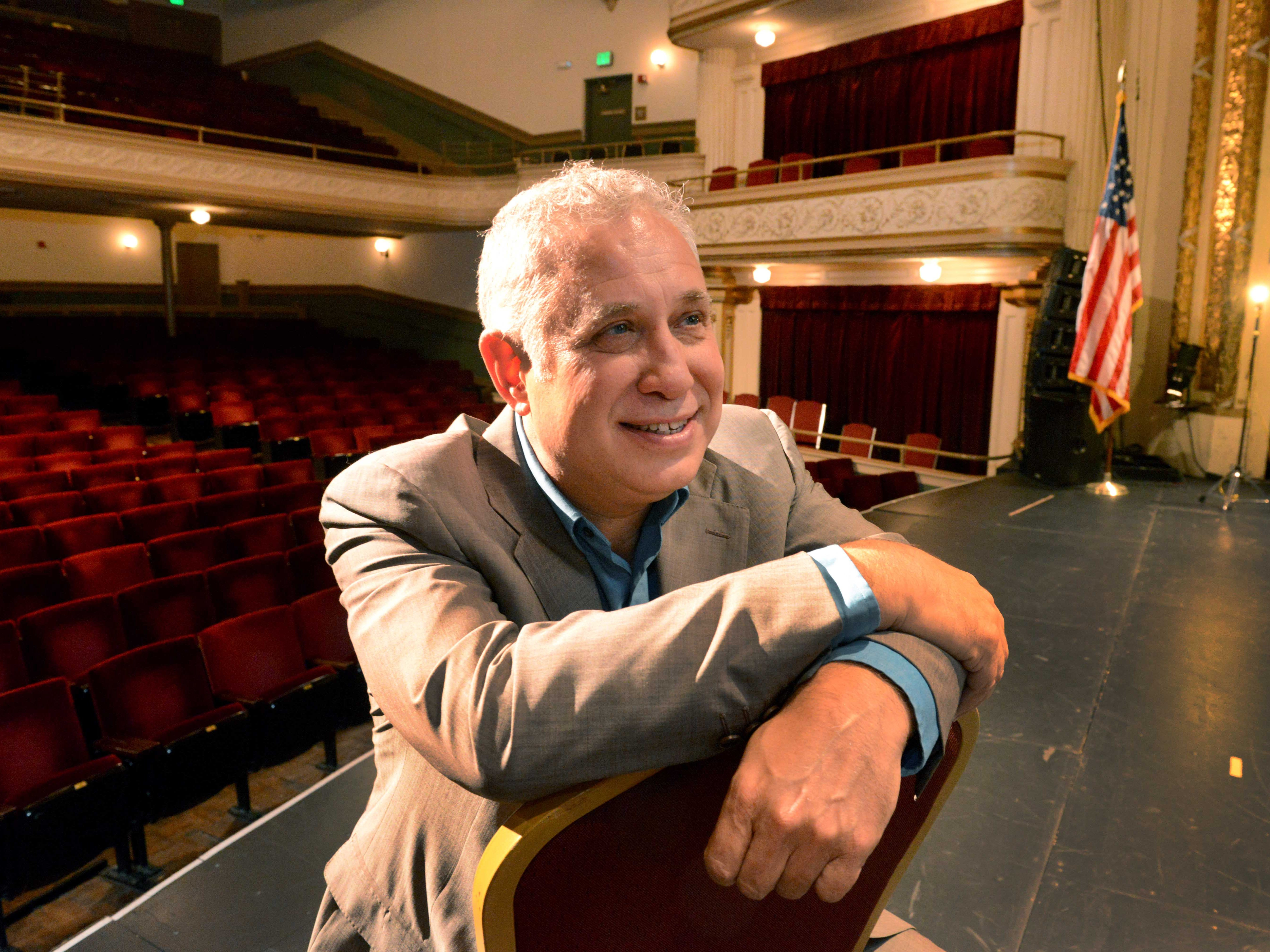 Portrait of AC Entertainment founder Ashley Capps  on May 17, 2013, inside the Bijou Theatre.