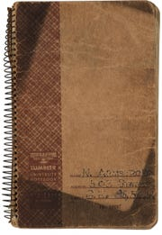 The Armstrong Family Collection, with memorabilia from Neil Armstrong, goes up for auction Nov. 1 and 2, 2018, includes Armstrong's notebook from his engineering classes at Purdue.