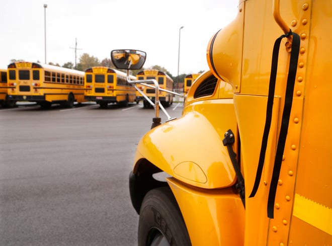 Lafayette police are investigating a report that a school bus window might have been shot by a BB gun or pellet gun. No one was injured, police said.