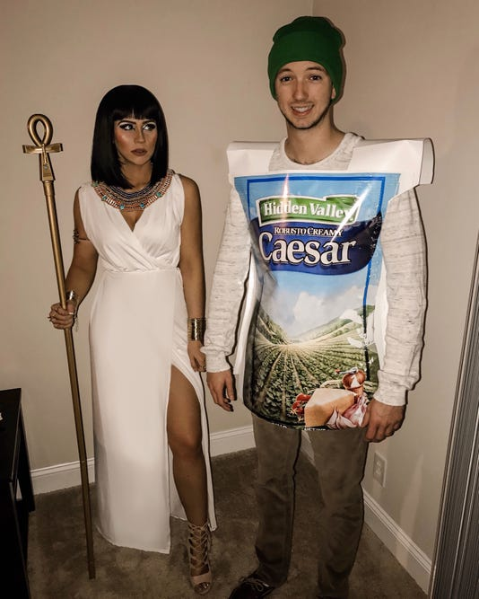 Sierra Jackson and her boyfriend Austin Sieracki went viral after Buzzfeed featured their Halloween costume. (Photo: Provided by Sierra Jackson)