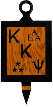 The Armstrong Family Collection, with memorabilia from Neil Armstrong, goes up for auction Nov. 1 and 2, 2018, includes this board from Armstrong's ties to Kappa Kappa Psi, an honorary band fraternity at Purdue.