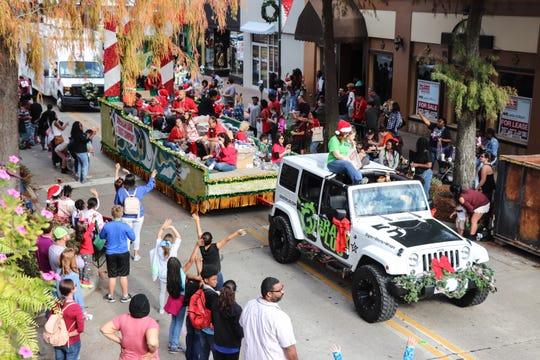 2017 Sonic Christmas Parade riding thru Downtown Lafayette.