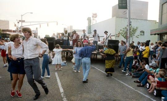 Downtown Alive Friday May 19, 1989 on Jefferson Street in Lafayette, La.