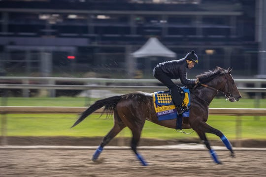 McKinzie trains at Churchill Downs on Oct. 30 ahead of the 2018 Breeders' Cup Classic.