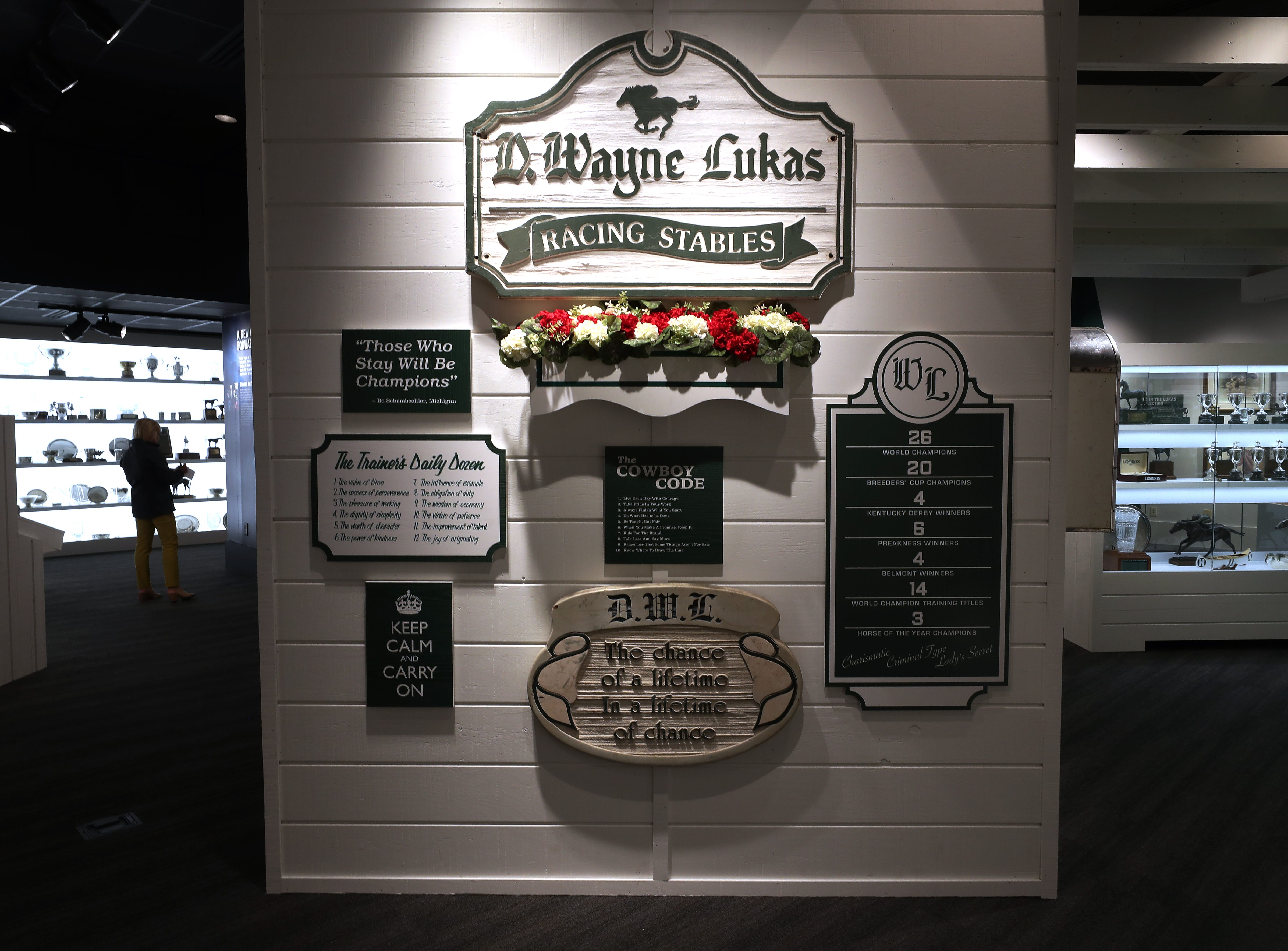The Kentucky Derby Museum has added two new galleries featuring D. Wayne Lukas and Bill Shoemaker ahead of their grand exhibit reveal.    Oct. 31, 2018