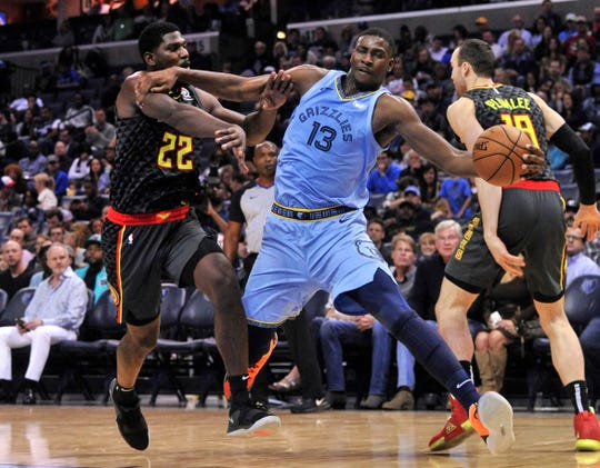 Jaren Jackson Jr. averaged 13.5 points during an injury-shortened rookie season.