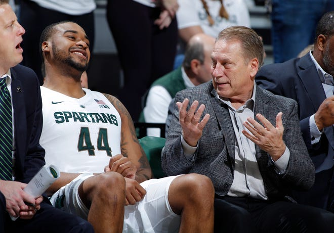 Tom Izzo, right, and Nick Ward, lead Michigan State into the 2018-19 season.
