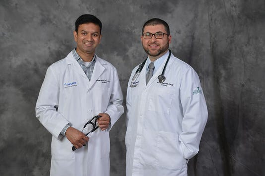 (left) Mohan Madala, MD, Interventional Cardiologist (right) Ibrahim Shah, MD, Interventional Cardiologist