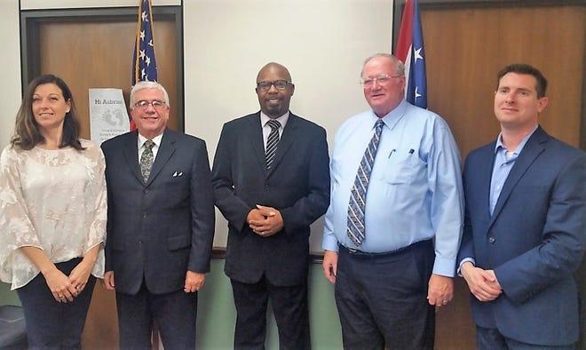Commissioner Marilyn John, Rev. Bruce Philippi, Rev. Jody Odom, and Commissioners Darrell Banks and Tony Vero.
