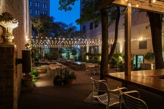The patio at Felicia Suzanne's Restaurant in downtown Memphis.
