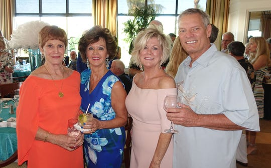 From left, Pam Clune, Candy Seward, Sharon Cook and Dennis Smith.