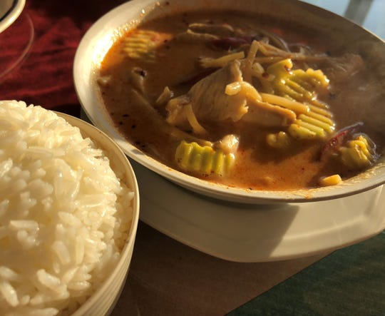 The red curry chicken from Siam Thai & Sushi Naples.