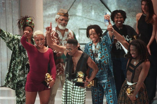Milwaukee native Baba Oje (gray beard) was the spiritual adviser for hip-hop group Arrested Development, which won the Grammy for Best New Artist in 1993. Oje died Friday after a battle with leukemia. He was 86.