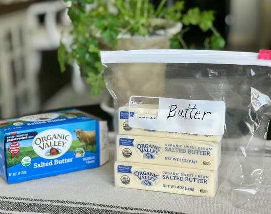 Storing butter in a zip top bag allows you to quickly check your supply and prevent it from taking on odors, according to America's Test Kitchen.
