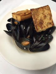 Libby Montana's steamed mussels are served in lemon thyme broth.