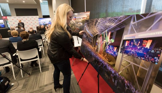 The first phase of the new American Family Insurance Amphitheater includes an expansion of the backstage area, including 19 dressing rooms, seven loading docks and more catering facilities.