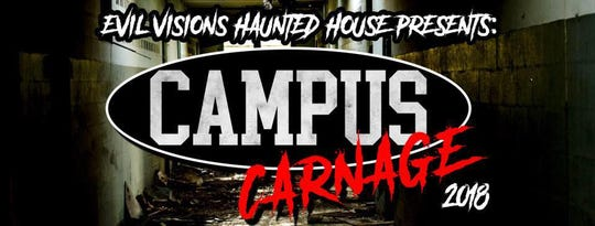 Evil Visions Haunted House Blackout is Thursday through Saturday.