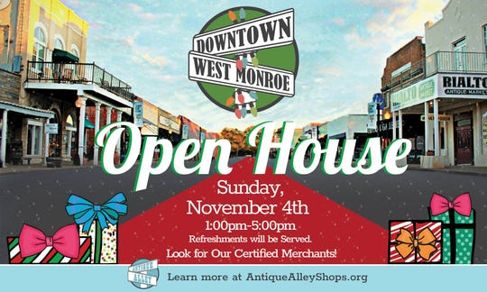 Downtown West Monroe Open House is Sunday at Antique Alley.