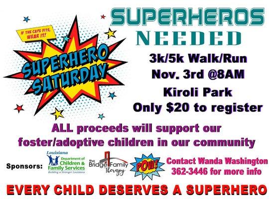 National Adoption Awareness Month Walk/Run is Saturday.