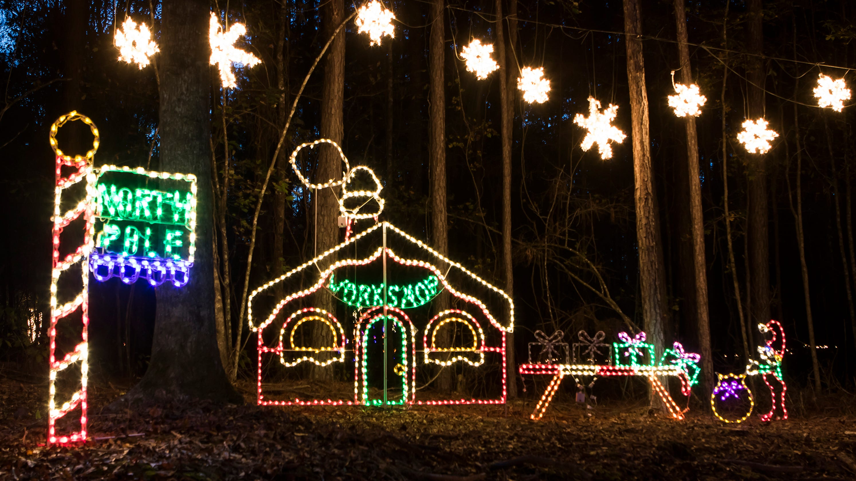 candy cane lane christmas light park in calhoun will open early
