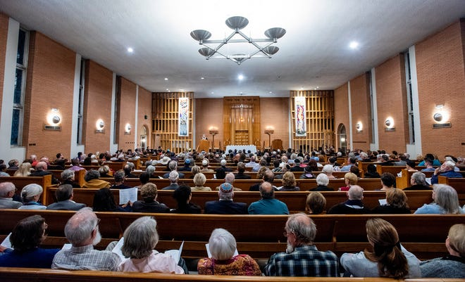 During Remembering Pittsburgh: a community gathering for mourning and hope, held at Agudath Israel Etz Ahayem Synagogue in Montgomery, Ala., on Monday October 30, 2018.