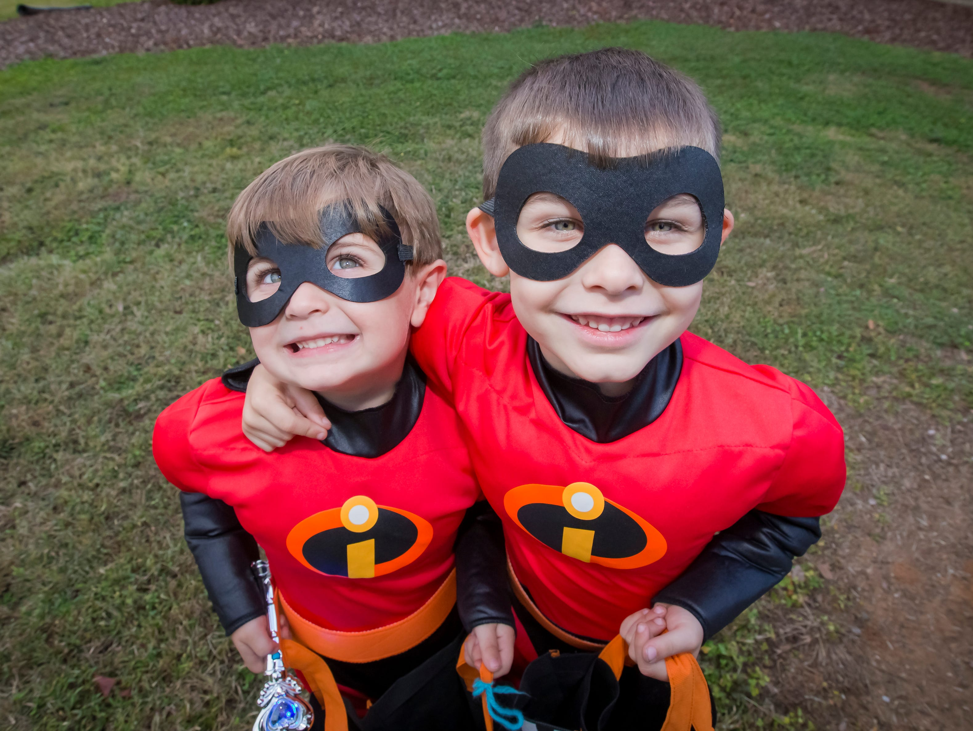 Bramlett and Huck Weaver  at the Greek Row Trick or Treat at MTSU on Tuesday, Oct. 30, 2018.