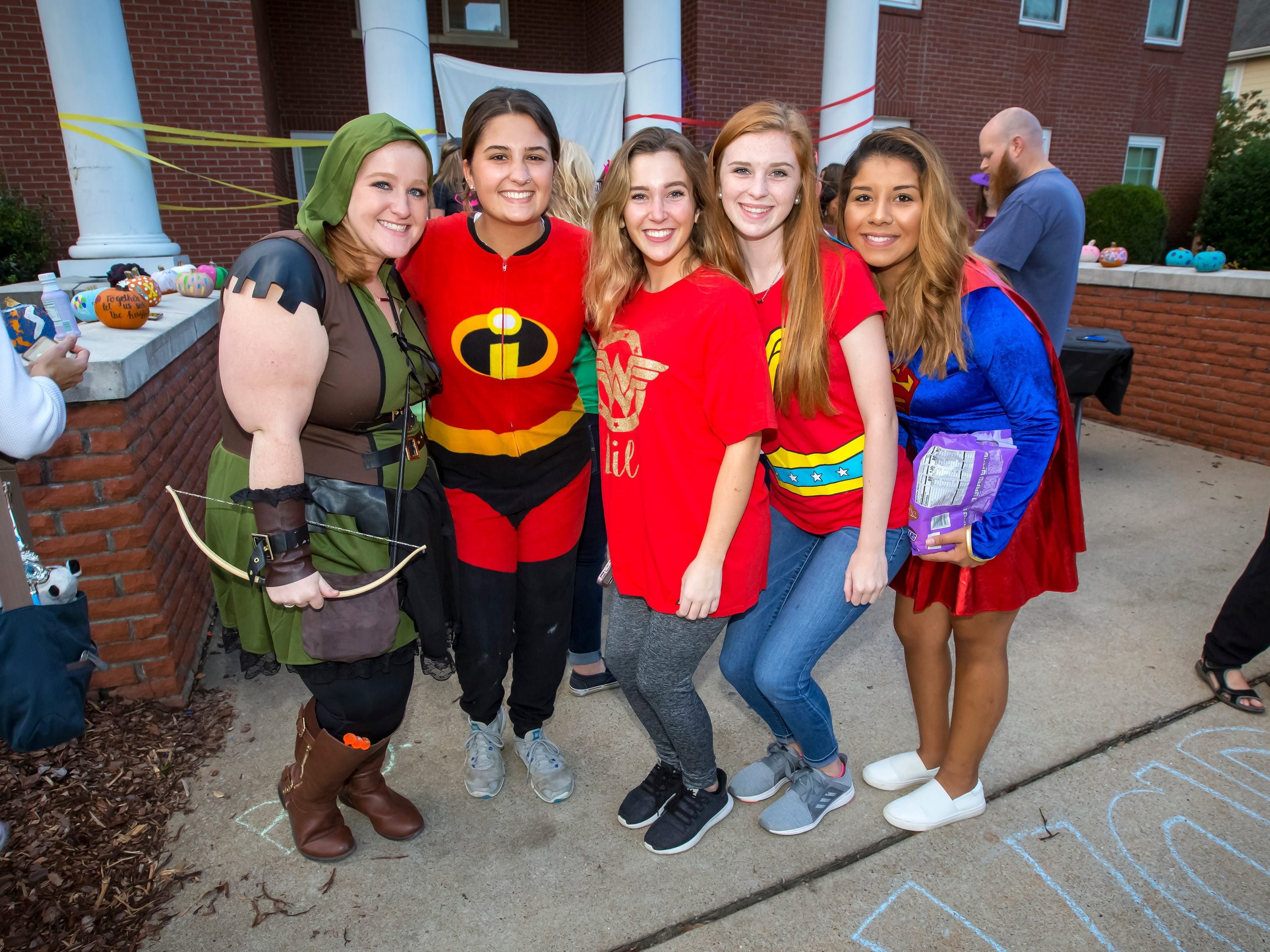 Greek Row Trick or Treat at MTSU on Tuesday, Oct. 30, 2018.