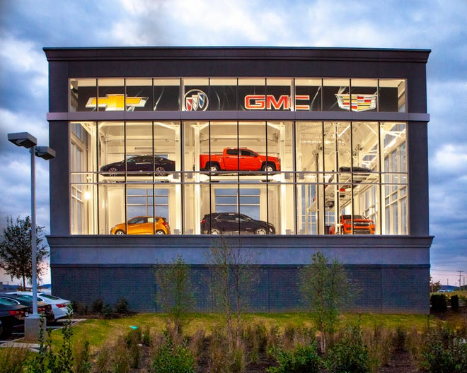 The display at Chevrolet Buick GMC Cadillac of Murfreesboro took $5 million and five months to build.