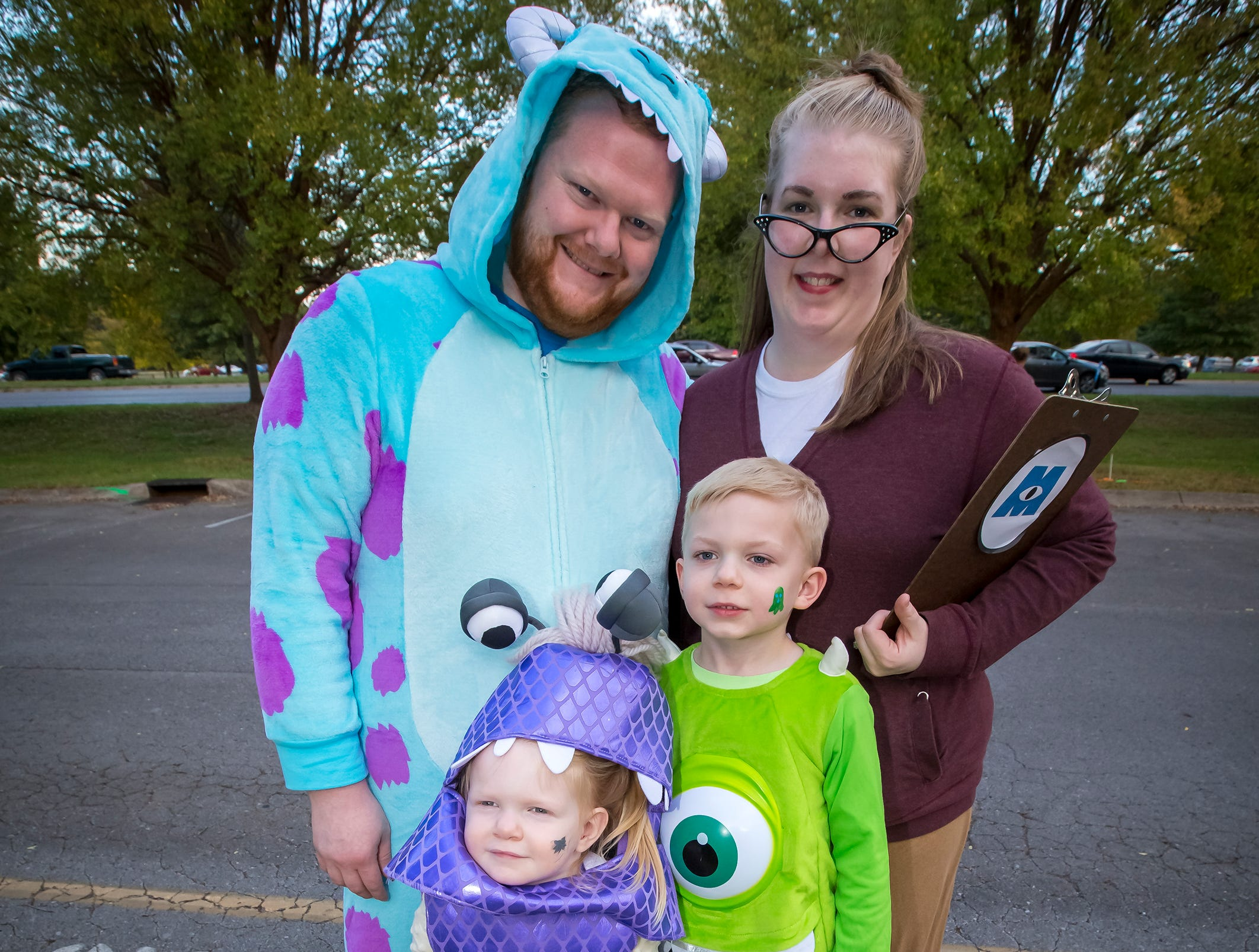 Mark, Rachel, Reed and Lucy Hancock  at the Greek Row Trick or Treat at MTSU on Tuesday, Oct. 30, 2018.