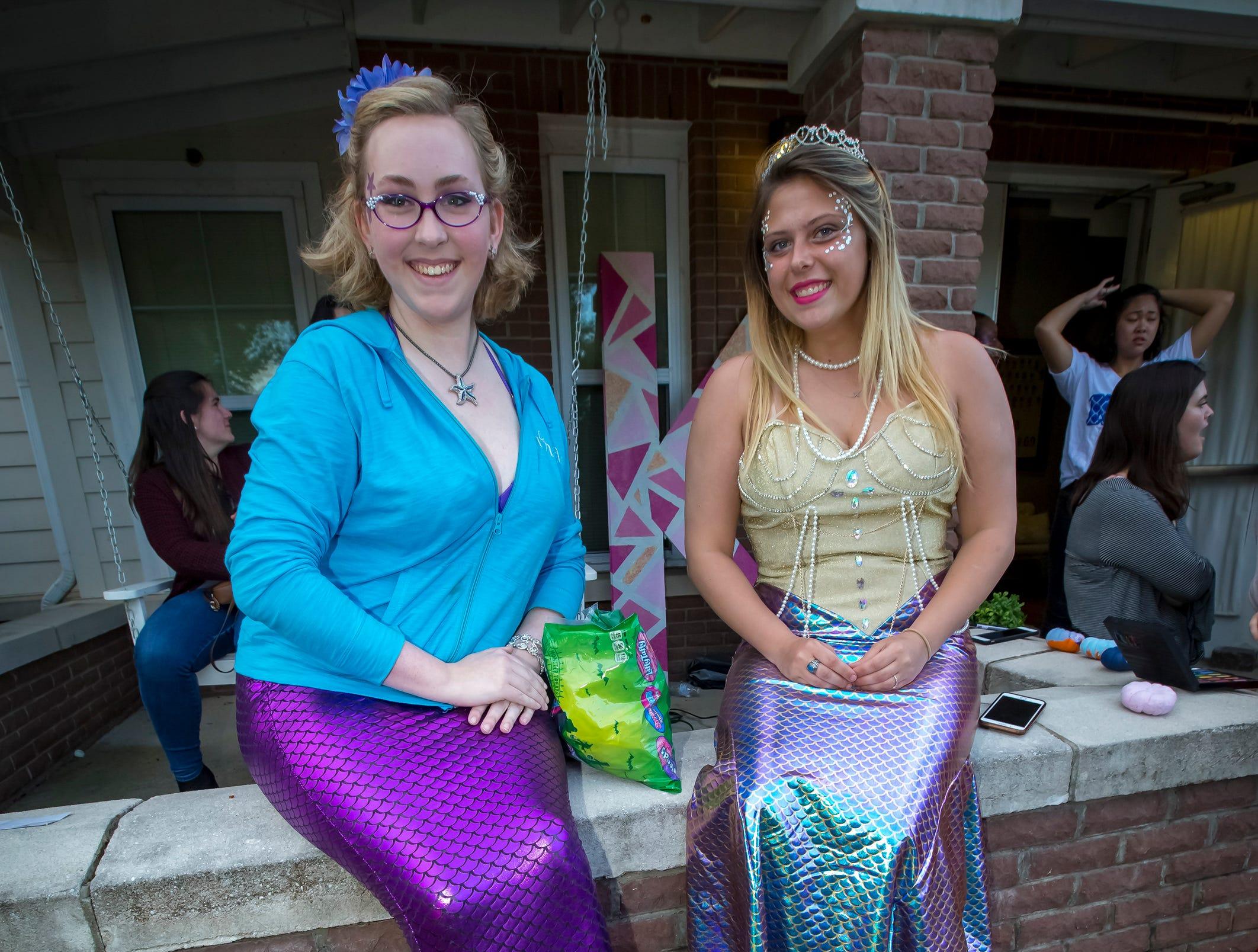 Emily Blackburn and Mara Kent  at the Greek Row Trick or Treat at MTSU on Tuesday, Oct. 30, 2018.